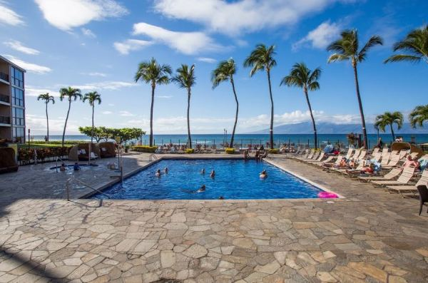 Aston Kaanapali Shores in Lahaina offers two fun pools for guests to choose from. One by the beach and one in the garden.