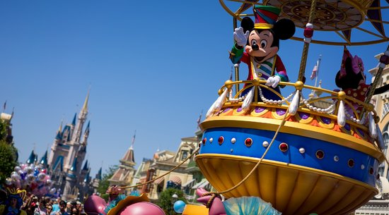 Mickey Mouse on Airship at Festival of Fantasy