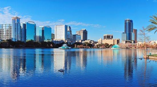 Downtown Orlando around Lake Eola