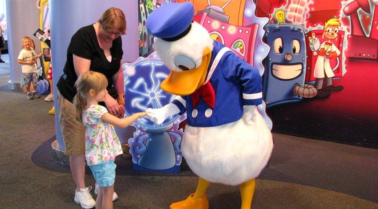 Donald Duck at Epcot Character Spot