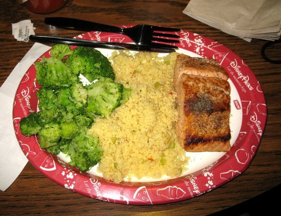Salmon and Couscous Columbia Harbour House Disney World