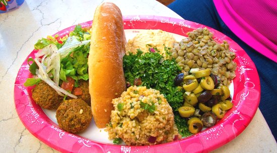 Falafel Platter at Tangierine Cafe