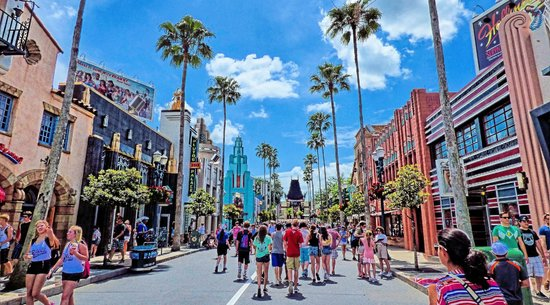 Streets of Hollywood Boulevard in Hollywood Studios, Disney World