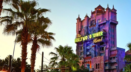 Twilight Zone Tower of Terror at sunset