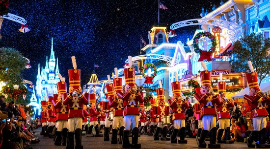 Nutcracker parade at Mickey's Very Merry Christmas Party