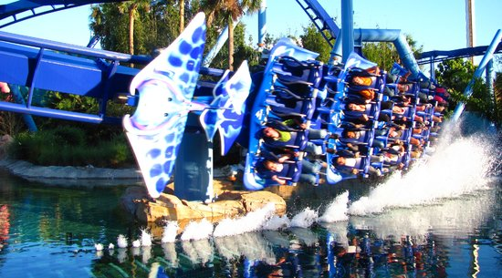 Manta Roller Coaster: SeaWorld Orlando Ride