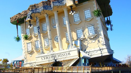 WonderWorks upside down building Myrtle Beach