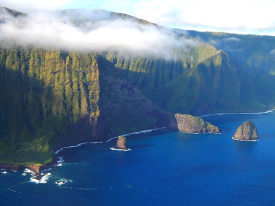 Molokai Cliffs: Maui Helicopter Tours