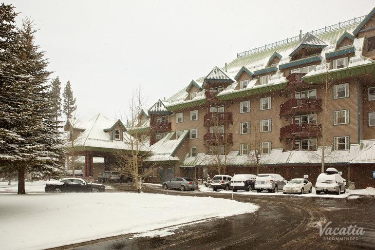 Timeshare resort in South Lake Tahoe, California. Resort entrance