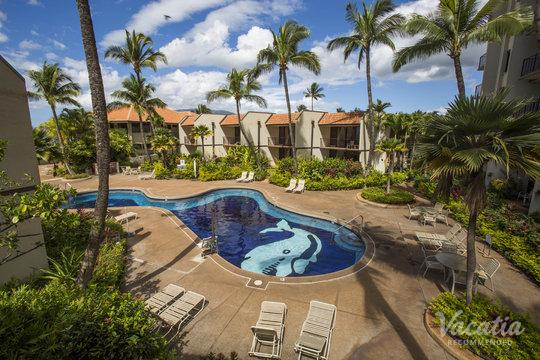Pool area right outside your rental lanai