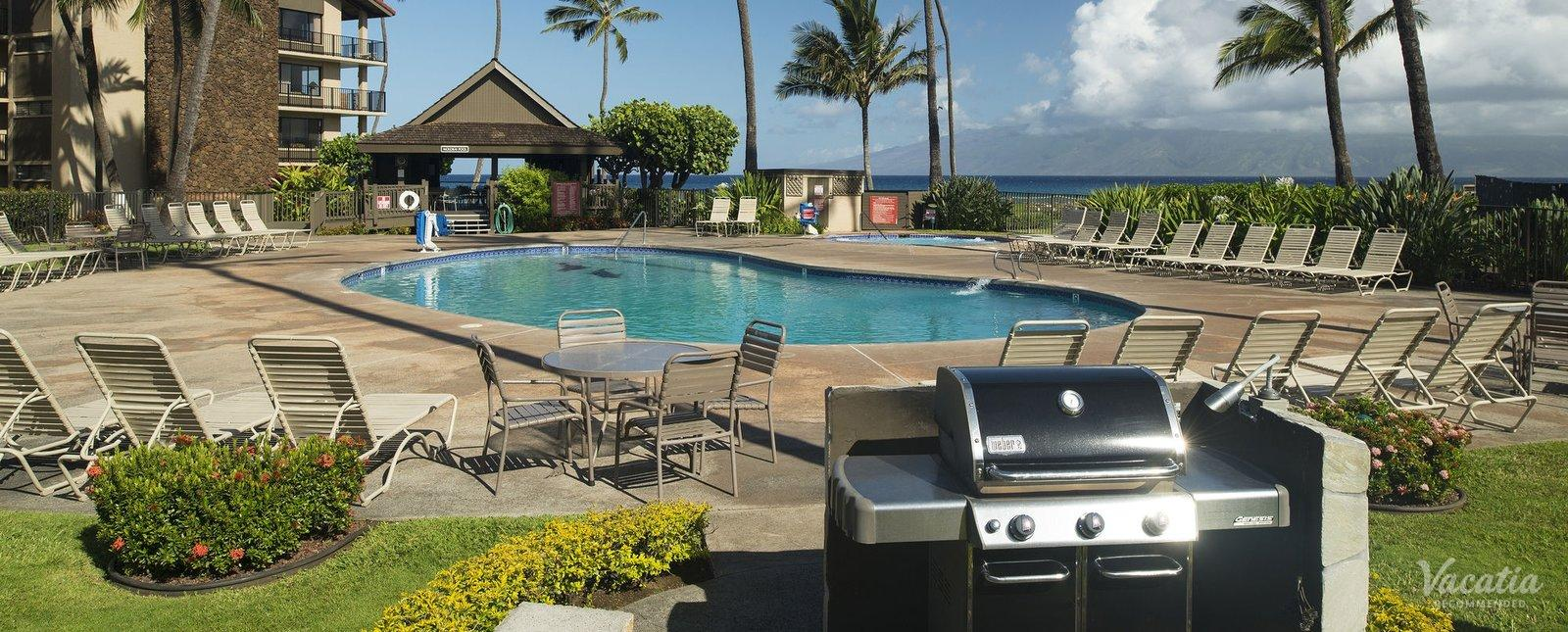 Aston at Papakea Resort pools grills lahaina