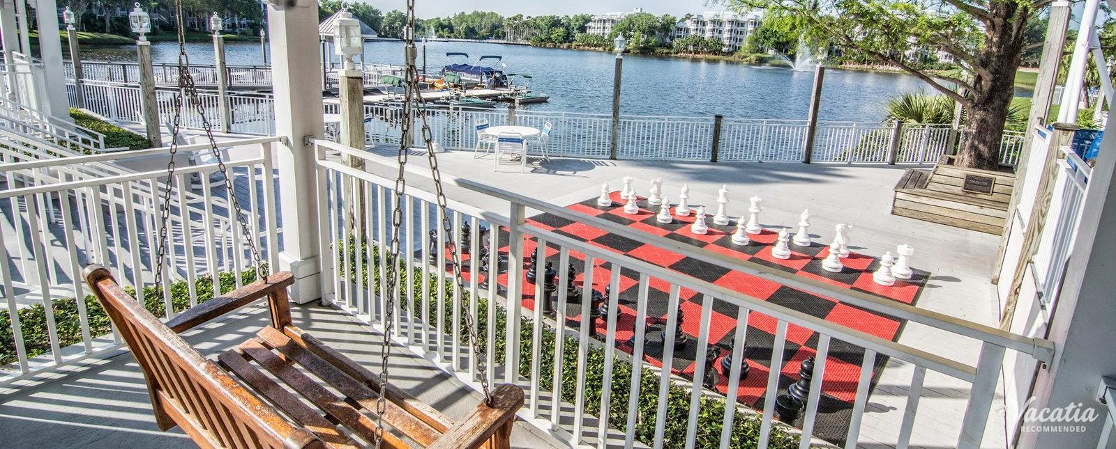 Marriott's Cypress Harbour lake with boat rentals