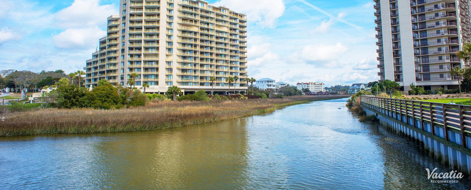 Ocean Creek Resort condo near river