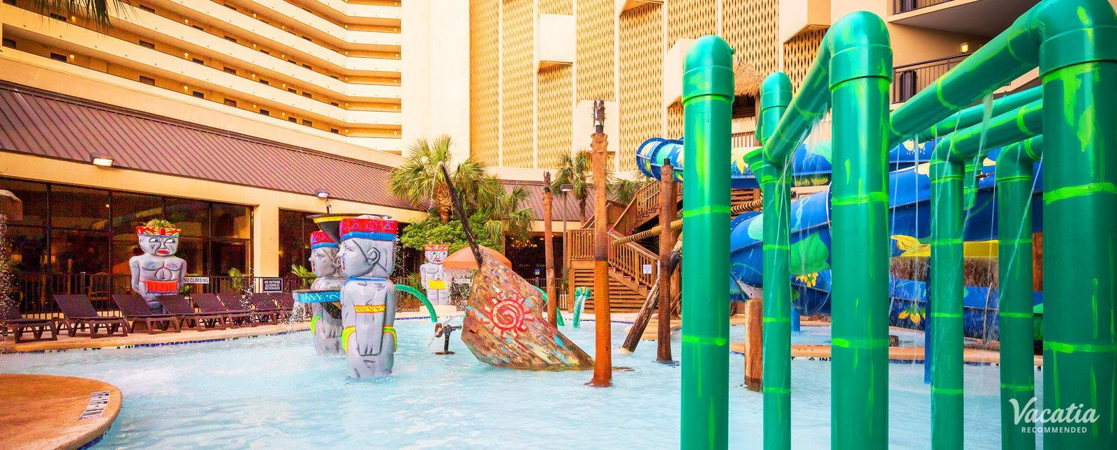 Ocean Reef Resort waterslides fountains pools