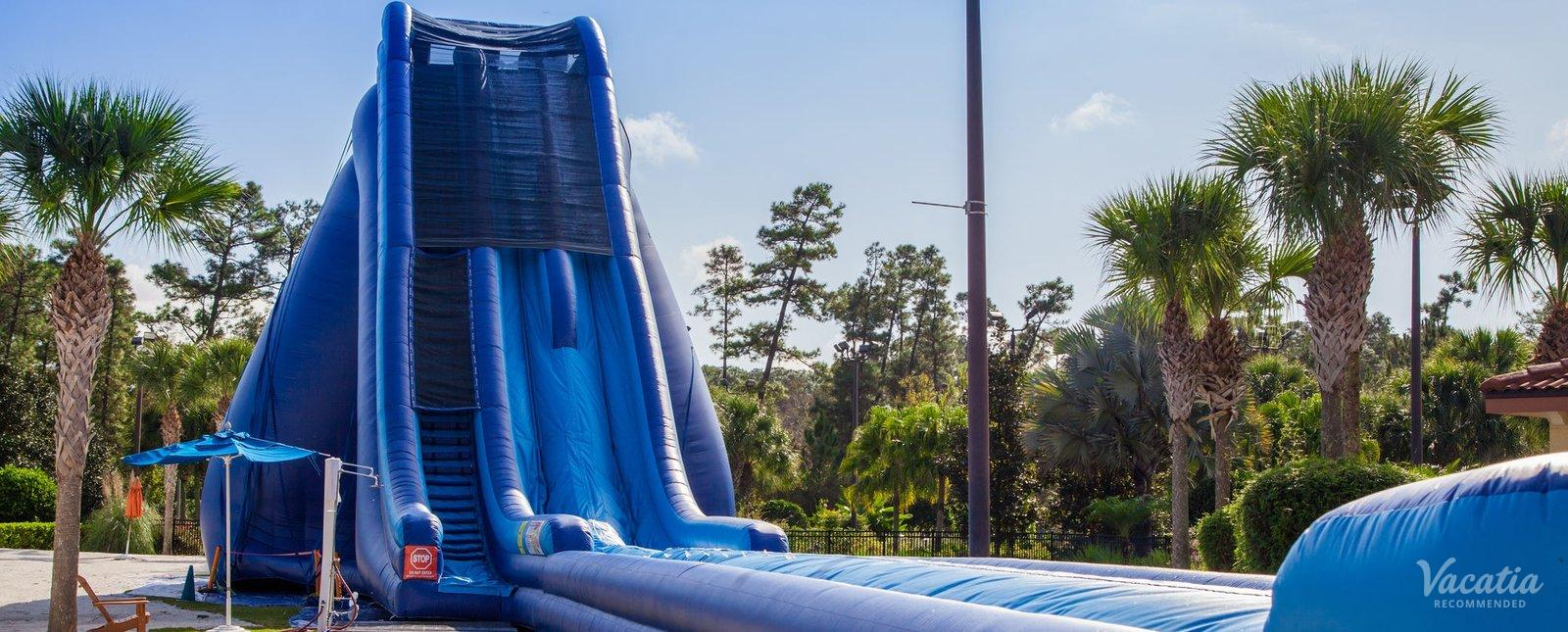 Orange Lake Resort water playground slip slide