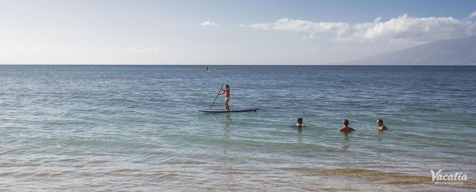 Sands of Kahana beaches snorkeling paddle boards