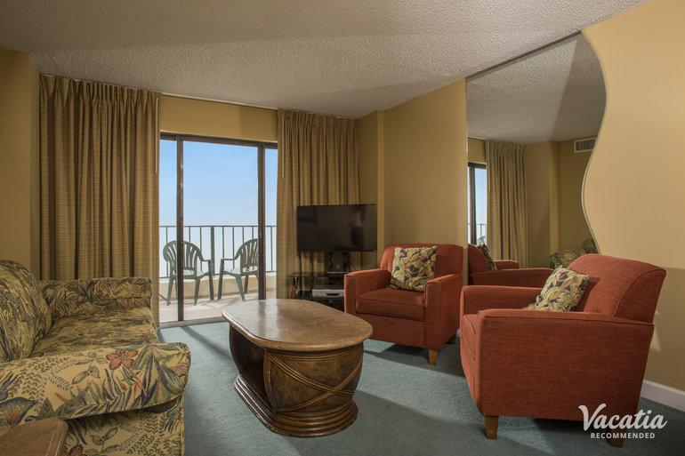 bedroom two bathroom atalaya towers myrtle beach condo rentals