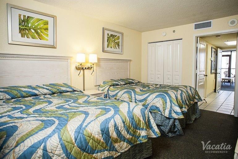 One Bedroom Oceanfront Two Double Pinnacle Compass Cove Resort Myrtle B
