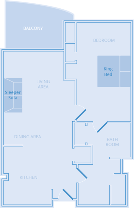 Solitaire One Bedroom Strip View Platinum Hotel Las