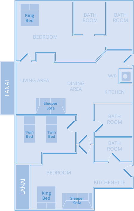 Three Bedroom Three Bath Mountain View Marriott S Ko Olina Beach Club Oahu Condo Rentals