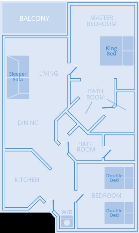 Two Bedroom Two Bath Sheraton Broadway Plantation Resort Villas
