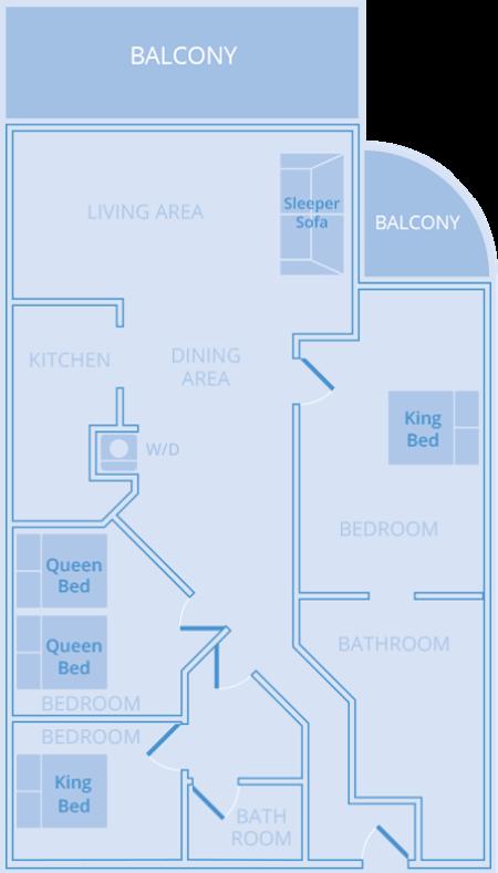 Three Bedroom Resort Residence Sleeps 10 Bluegreen Resort Vacatia